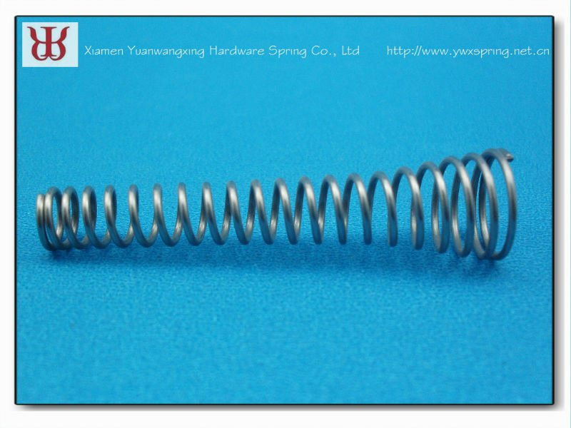 Custom large coil stainless steel conical compression spring