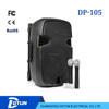 dotun hot sale trolley speaker with led light bluetooth USB/SD/FM/wireless mic/remote control DP-105