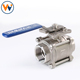 VW-34Q 3-PC Titanium or WCB or Stainless Steel SS Electric Actuated Threaded End Ball Valve Acid Water Gas Oil Valve