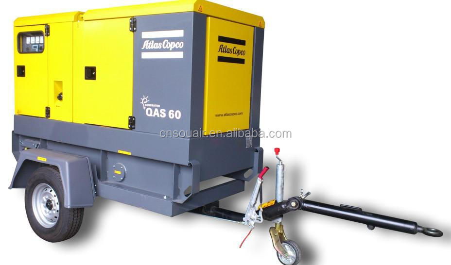 Atlas Copco Qas 60 Diesel Generator 46 4kw    58kva Ac 400v