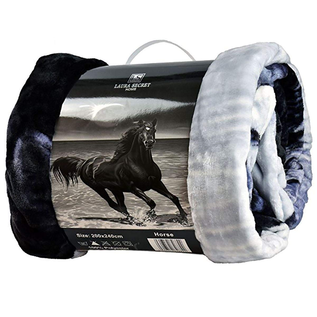 Ma Online Horse Wolf And Tiger Printed Faux Fur Sofa Bed Throws Double King Size