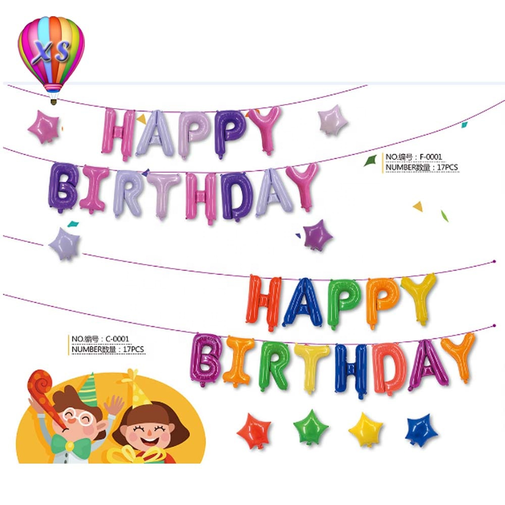 wholesale 16 inch custom color pink happy birthday foil