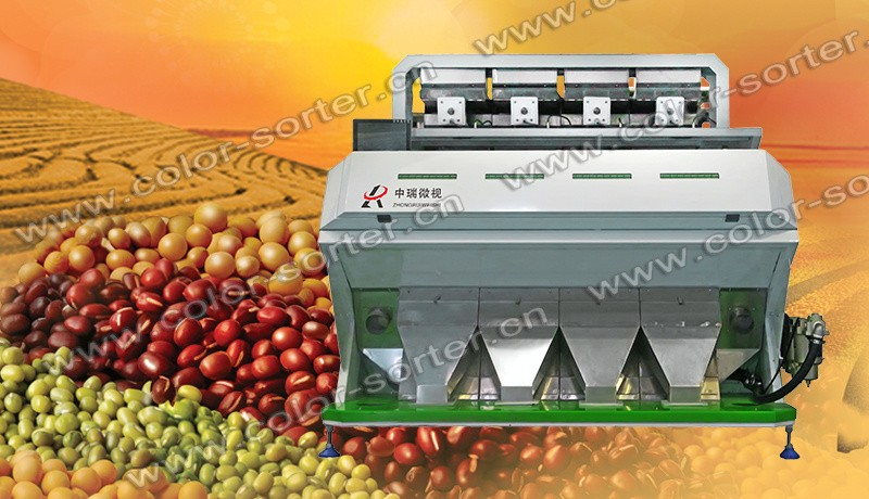 High frequency ejector ccd color sorter/removing machine with low damage rate