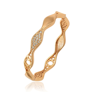 50737 xuping 18k gold plated bangle saudi arabia bangle jewelry