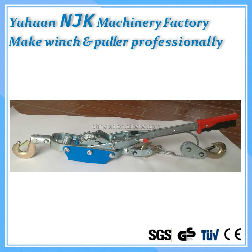 HOT sale 2.5T,hand puller/lifting tools/wire rope tightener with double gear,three hooks