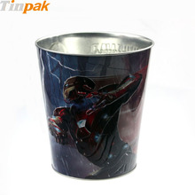 OEM Christmas Gift Tin Bucket With Handle For Gift