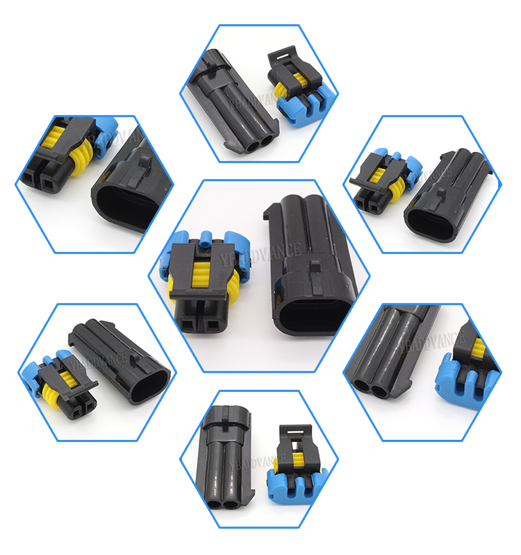 2 Pin Male and Female Automotive Wire Connector Terminal For Japanese Car 12052641 12162000