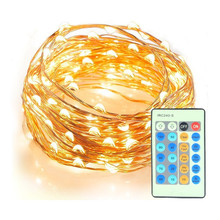 Indoor Starry String Lights, 100 Led Firefly Lights 33ft Copper Wire 8 Mode Ambiance Lighting with Remote Control for Christmas