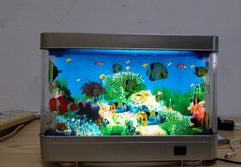 Motion Fake Fish Tank Ocean Sea Fishes Led Night Light Projector ...