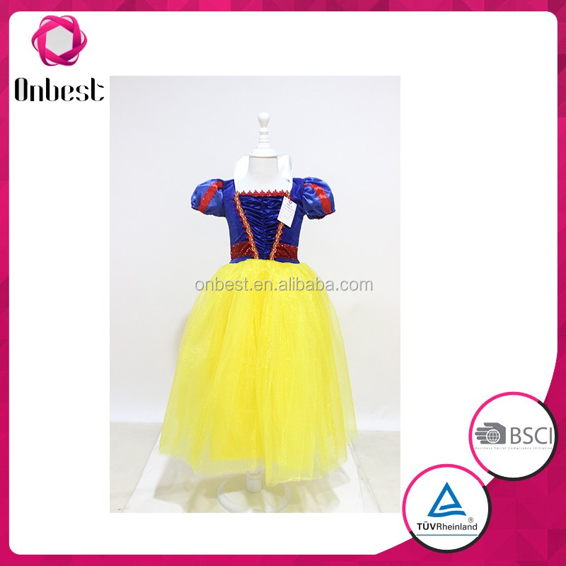 Fast delivery snow white costume for stage performance classical fairy tale costume Girls princess