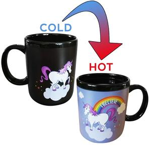 Magical Heat sensitive Unicorn Mug I Color Changing Ceramic Mug with Tea Coffee Hot Chocolate I Inspiring Cute Funny Gift