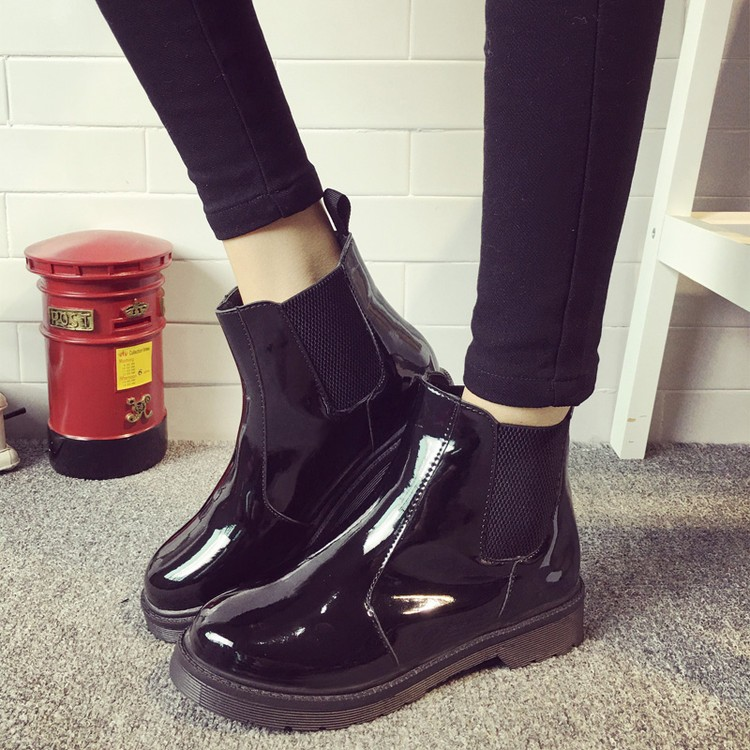 ae69b202e3c84 ... Flat Heels Casual Shoes Woman Patent Leather Boots School Style For Girls  Black Motorcycle. 20160727210443855008 750 20160727210443855019 750 ...