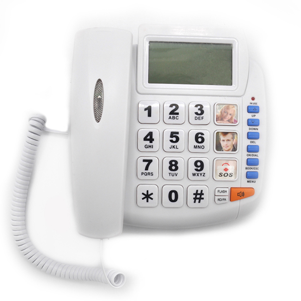 10 Speed dial number Caller ID EMERGENCY Desk Phone
