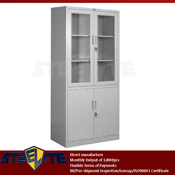 luoyang furniture suppliers/wall mounted metal hospital cabinet glass doors book display cabinets/used medical cabinets