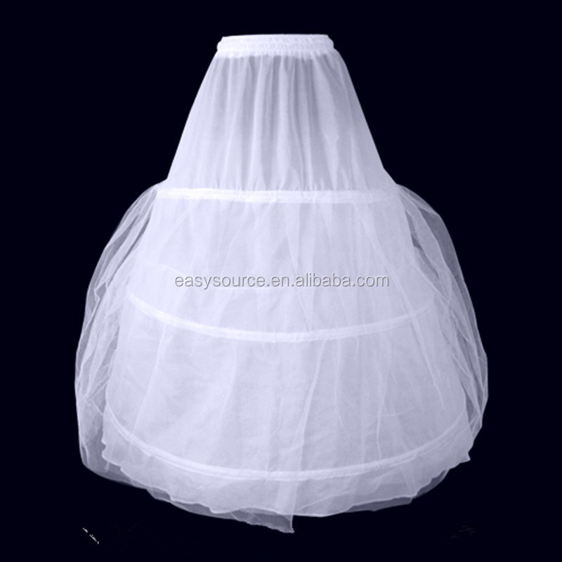 high quality best price wedding bridal underskirt decent gown dress 3 hoops double layers puffy petticoats