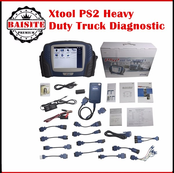 Migliore Qualità originale XTOOL PS2 Benzina Bluetooth con Touch Screen Aggiornamento Online Heavy Duty Scanner PS 2 PS2 Diagnosti