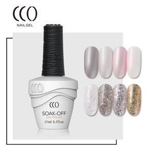 CCO Bling Color Glitter UV Gel Nail Polish Wholesale Professional Gold Sand Nail UV Gel