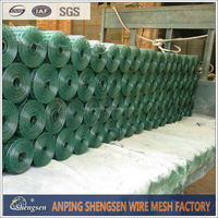 black vinyl coated wire mesh/Plain steel wire cloth/low-carbon steel wire cloth