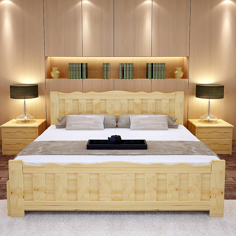 Durable home furniture comfortable design wood king size Types of king beds