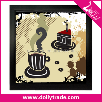 Simple Coffee Art Painting 2 Panel Canvas Wall Art Painting French ...