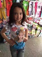 Frozen Princess Girls Shirts pink Tees Anna And Elsa Short Sleeve Children's Clothing T-shirts