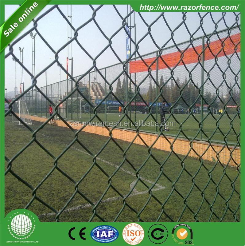 Cheap privacy slats 9 gauge chain link fencing for sale