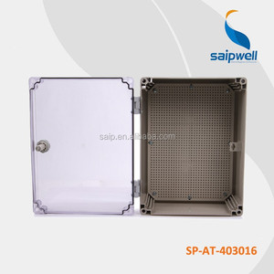 IP65 Plastic Waterproof Electrical Junction Box with Transparent Lid (400x300x160mm)