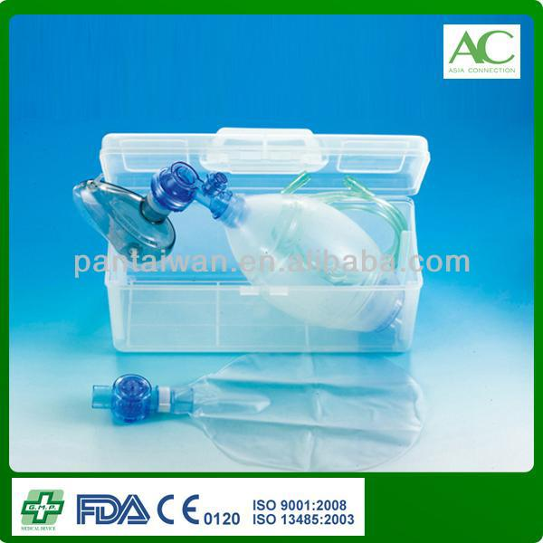 ME6121-6129 Reusable Ambu Bag with PSF Connector and PEEP Valve with Carrying Case , Autovlavable Sillicone Manual Resuscitator