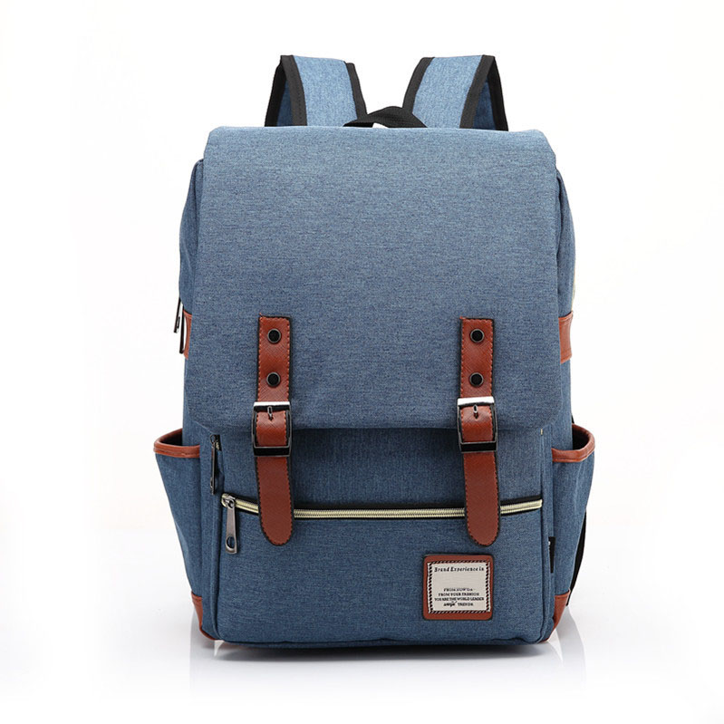 High quality durable canvas blank bag outdoor laptop canvas backpack