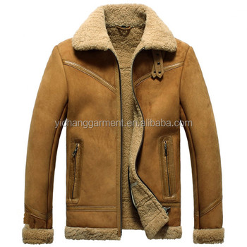 Shearling Fashion Sheepskin Bomber Jacket For Men Buy Bomber
