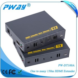 alibaba supplier Pinwei PW-DT100A HDMI 1.3 HDCP 1.2 120m HDMI Extender over TCP/IP