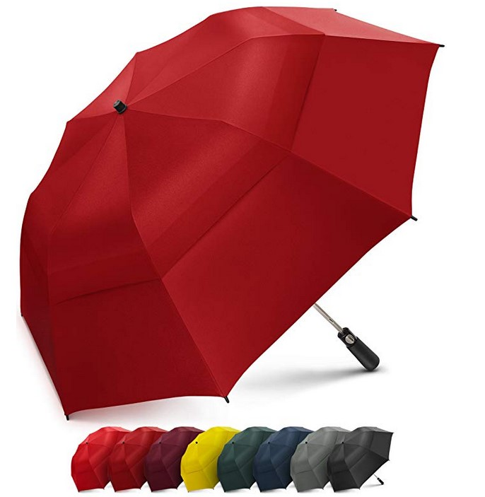 Promotional Wholesale Inverted Reverse 3 Folding Print Inside Windproof Auto Open Close Car Umbrella