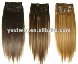 Factory Direct Selling 5 virgin human hair best quality Hair clip in hair