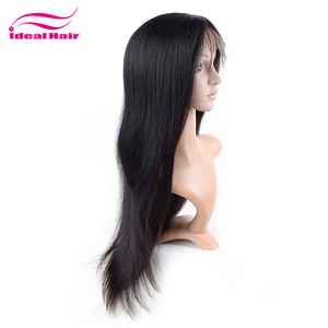 Hot sale natural virgin 26 inch human hair micro braids wig,180% density full lace wig brazilian human hair