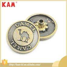 KAM 1.8g vintage style customized logo clothing metal button snap