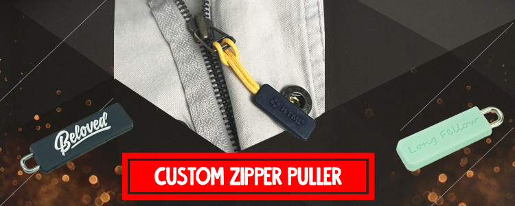 make your own Custom logo rubber PVC silicone zipper pulls