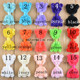 wholesale DIY 8cm Girl Hair Accessory Flower Bowknot Bows No Clip Tie