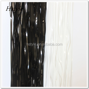 Metallic Black Foil Fringe Curtains Photo Backdrop Hanging Curtain Tinsel Window Doorway