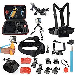 Newmowa Large Size case 14 in 1 Accessory Kit for Gopro HD Hero, Hero2, Hero3, Hero4 (Kit-2 Large Size Case)