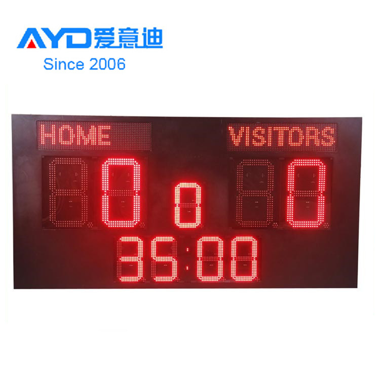 Factory 7 Segments Outdoor Single Digit Red Green Blue Yellow white Scoreball LED Display