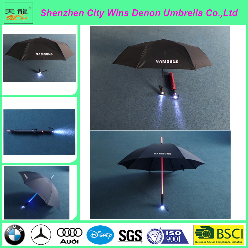 new invention cool blade runner light advertisement led umbrella