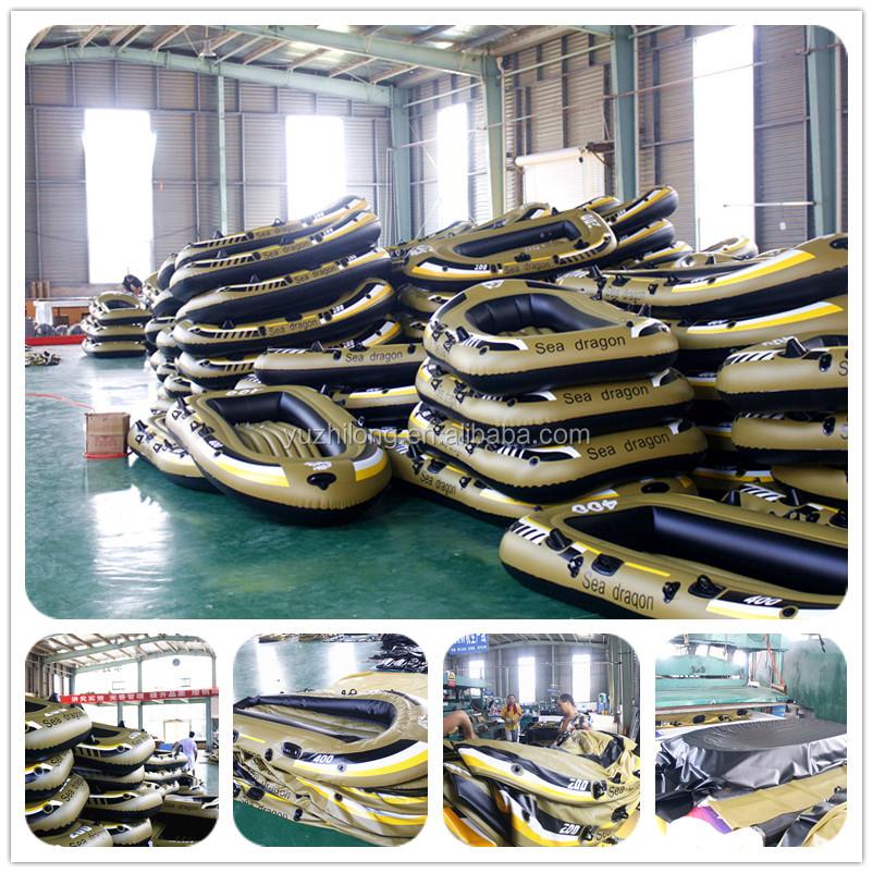 Yuzhilong מותאם אישית סיטונאי גומי מתנפח דיג אגם ההנעה סירות