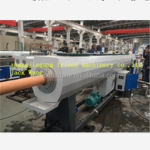 pvc pipe conical twin screw extruder/plastic pipe extruder equipment