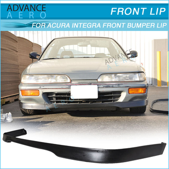 92 93 FOR ACURA INTEGRA T R STYLE PU FRONT BUMPER LIP SPOILER POLY URETHANE BODY KIT