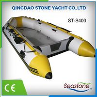 Fully stocked Inflatable Pvc Sport Fishing Boat With Outboard Motor