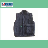 sleeveless quilted work vest with many pockets/industrial outdoor working vest uniform manufacture/mens cotton working vest