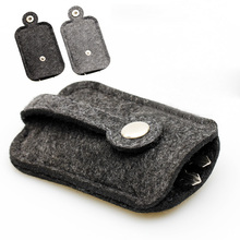 2015 New Men women Woolen Felt Car Key Holder Case Bag Keychain Holder Bag Purse Casecompact key holder