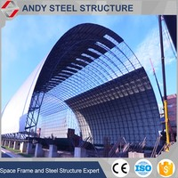 structural metal building space frame steel coal storage with best quality and low price