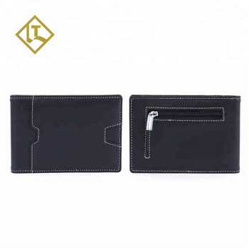 37570985b374 Super Slim Smart Short Minimalist Black Credit Card Holder Rfid Blocking  Man Real Leather Money Clip Wallet With Coin Purse - Buy Man Leather ...