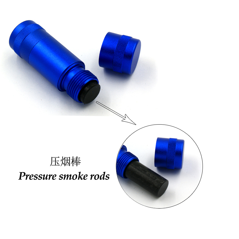 New style 60mm 5parts manual mini cylinder Aluminium alloy pressure smoke rods tobacco smoking accessories factory direct sale